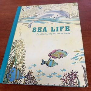 Sea Life Portable Coloring Hard cover